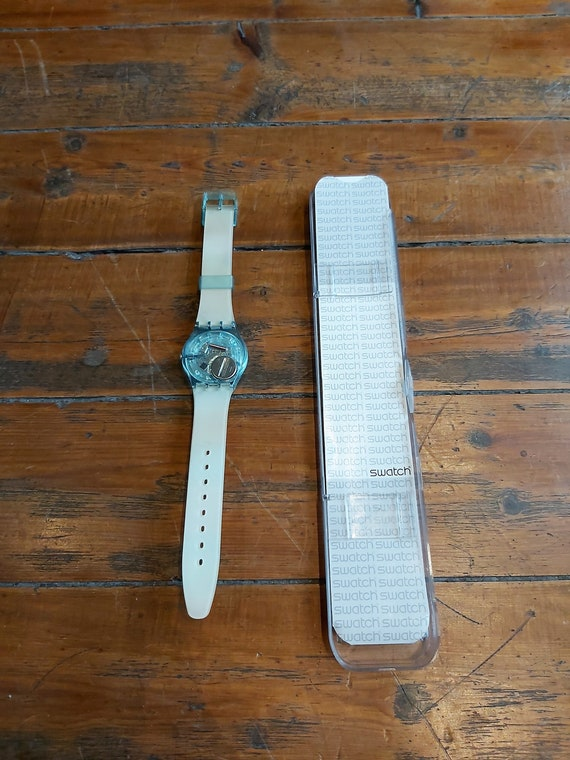 Vintage Rainbow Swatch Watch - image 8