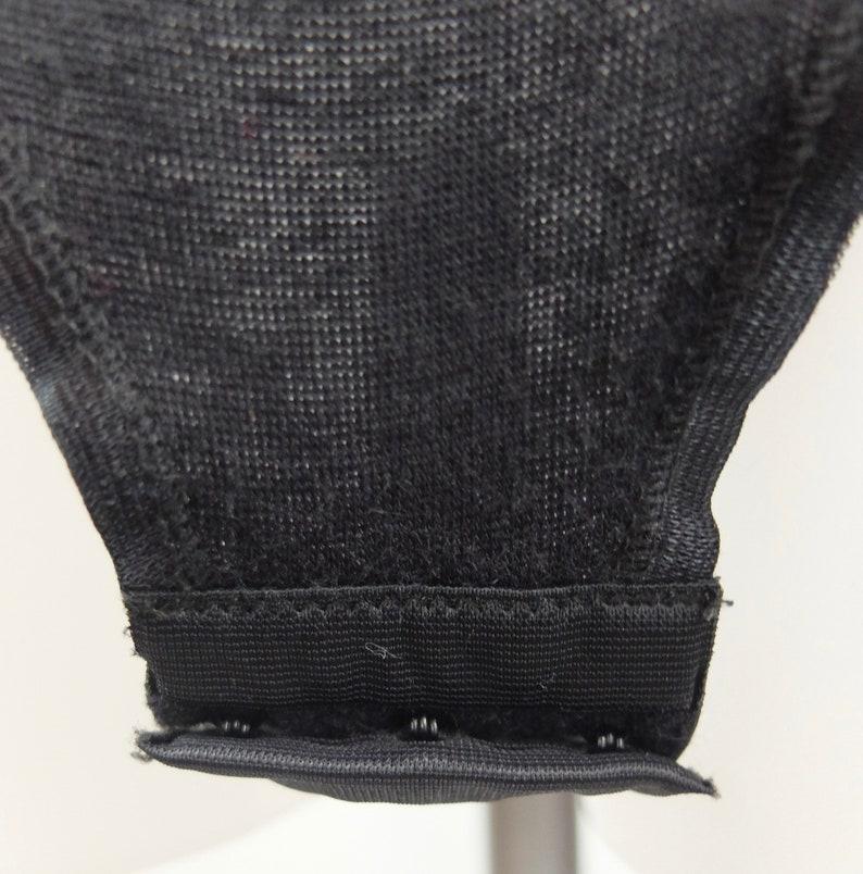 Vintage 1980/'s Black Sleeveless Leotard Bodysuit