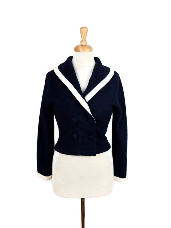 Vintage 1940's Nautical Cardigan Sweater