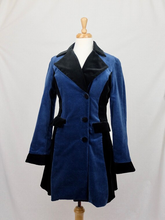 1990's Maribou London Victorian Velvet Trench Coat by Etsy