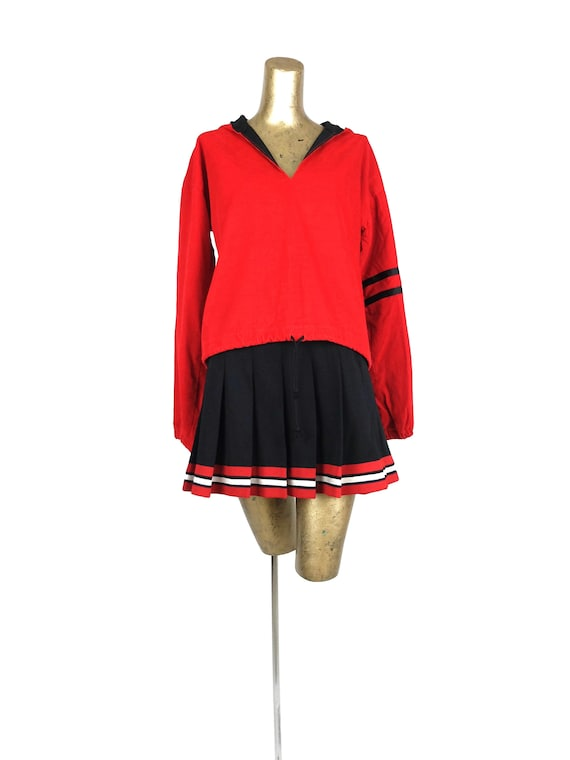 Vintage 50s Two Piece Varsity Cheer Co-ord Set wit