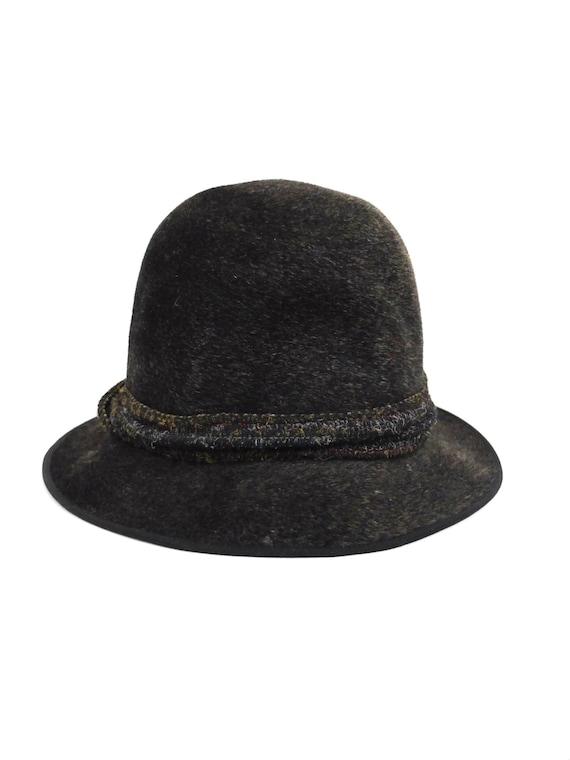 Vintage 40s Grey Felt Brimmed Fedora Hat