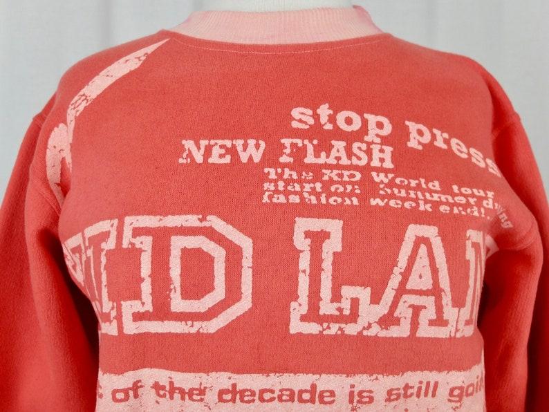 Vintage 1980/'s Athletic Crew Neck Long Sleeve Pullover Graphic Sweatshirt