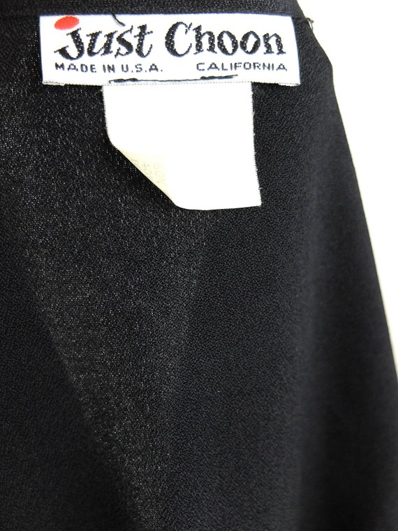 Vintage 90s Formal Basic Black Cropped Open Cardi… - image 9