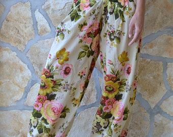 Charlotte-Trousers/Pants,Front pockets,Wide leg,Straight Line,Meditation,Lounge Wear,Pure Cotton,Ethical Fashion,Handcrafted,Relaxed Fit