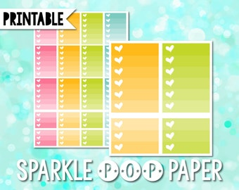 Spring Pastel Ombre Printable Stickers for Happy Planner