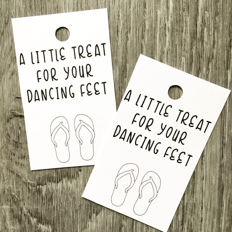 ba454dfd9bb283 A little treat for your dancing feet flip flop tags slipper