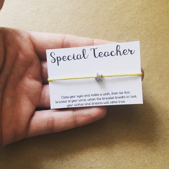 Wholesale Teacher gifts • Teacher Wish Bracelet • Jewellery • Make a Wish •  End of Term Gifts • Special Teacher