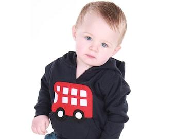 SALE, Bus Hoodie, 12-18 months, Boy Hoodie, Girl Hoodie, Baby Hoodie, Toddler Hoodie, Boys Clothes, Girls Clothes, Baby Tops, Applique,
