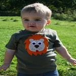 Lion T-Shirt, Baby T-Shirt, Toddler T-Shirt, Baby Boy T-Shirt, Baby Boy Clothes, Cute Baby Clothes, Baby Gift, First Birthday Gift, Babywear