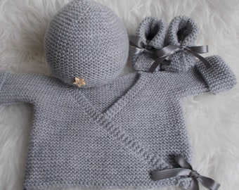 top hat wool baby shoes