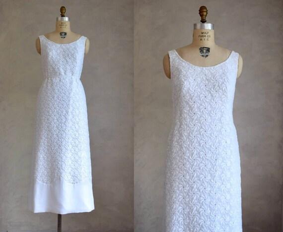 vintage 1960s lace wedding gown | vintage 60s 70s