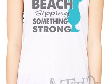 34ff965405cfaa Somewhere on a beach muscle tank top or racerback tank - country concerts