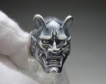 "Horiyoshi 3 x CREEP Collaboration ring "" Hannya "" ring - silver 925"