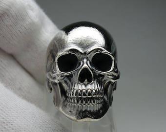 Skull (Dead) 11 ring - full jaw anatomical skull ring - silver 925