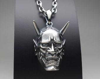 "Horiyoshi 3 x CREEP Collaboration pendant ""Hannya"" pendant necklace - silver 925"