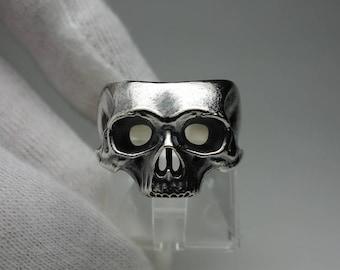 Skull (Mask) 11 ring - half jaw skull mask ring - silver 925