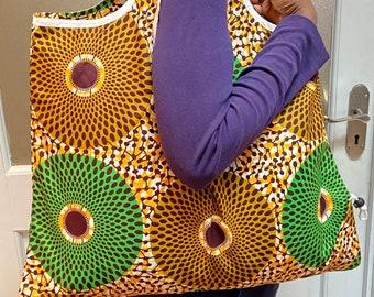 African Shopping Bag/Reusable Bag/ Sac Africain/ BYO Bag/Diaper Bag/ African Wax/ Beach Bag/Shopper Tasche/ Einkauftache