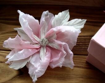 Flower of silk,wedding hair piece,gift for women,silk flower wedding,silk flower in hair,handmade flower,bride decoration,piece bridesmaids