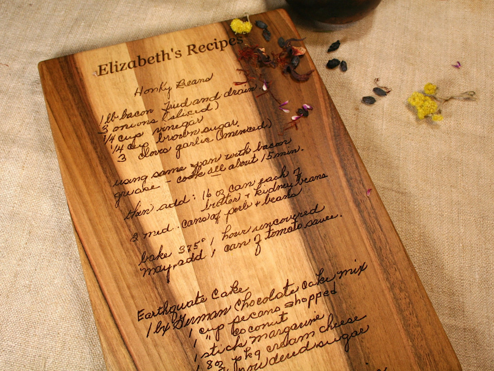 typed recipe cutting board - HD 1588×1192
