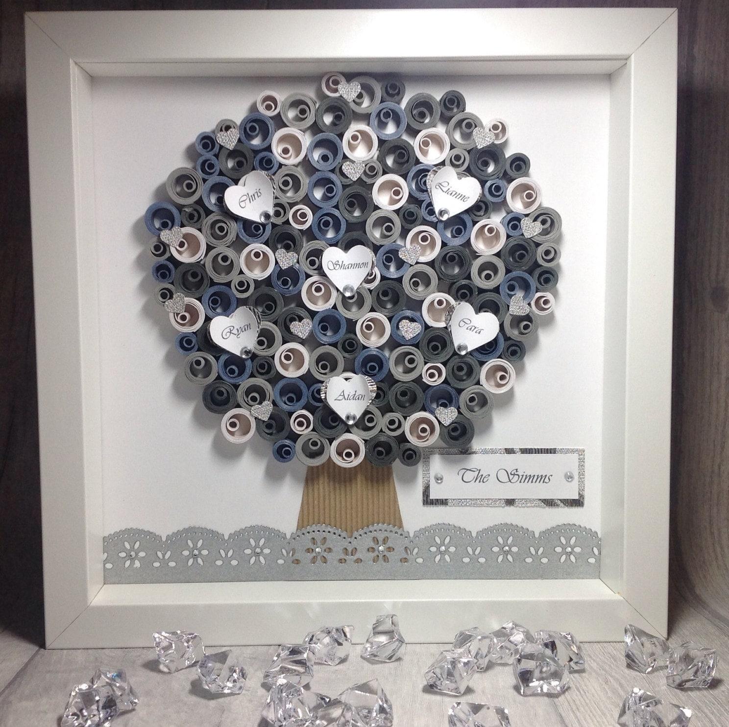 Árbol genealógico, personalizar marco de árbol de familia, regalo ...
