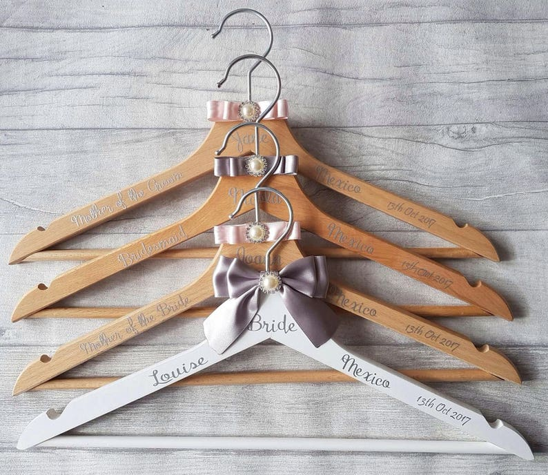 Brides Personalised Hanger Bridal Party Hangers  17509de0ef92c