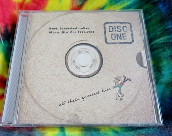 Barenaked Ladies Disc One 1991-2001 Mens Long Sleeve Hooded Sweatshirt White