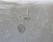 Set of 2, Vintage Embroidered Linen Table Coverings 44 by 30 Inches, Wall Decor We also have Corn Bags, Baby Quilts, Dog Toys, More Vintage