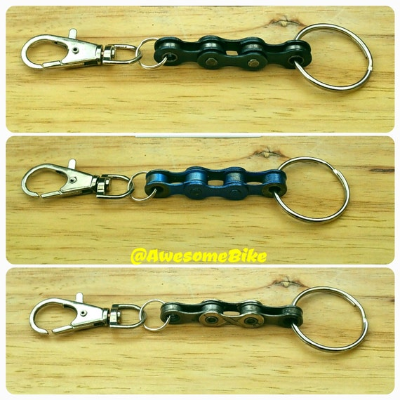 Bicycle Chain Keyring, Keyfob, Keychain Lots of Colours Great Gift for Bike Rider or Cyclist Upcycled Recycled Stocking Filler Birthday Link