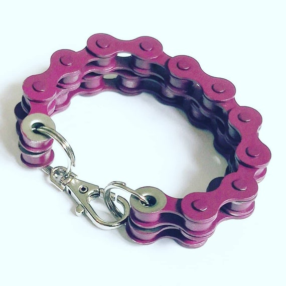 Large Bike Chain Bracelet Great Gift for any Cyclist or Bicycle Rider or Punk Industrial or Keychain BMX Emo Goth Jewellery