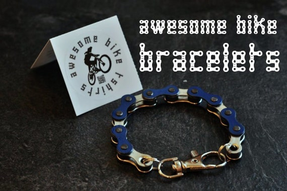 Bicycle Chain Bracelet Great Gift for Any Cyclist or Bike Rider or Punk Industrial Key ring or Keychain Jewellery idea