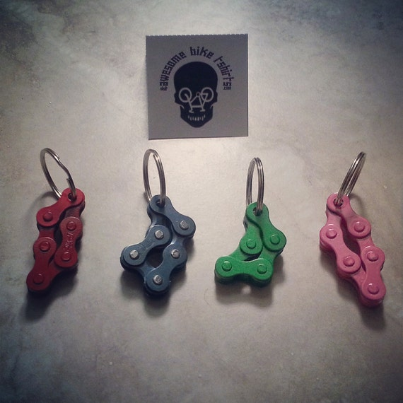 Little Keyrings Made from Bicycle Chain Great for Bike Riders and Cyclists, Fun to Fidget with, Stocking Filler or Birthday Present