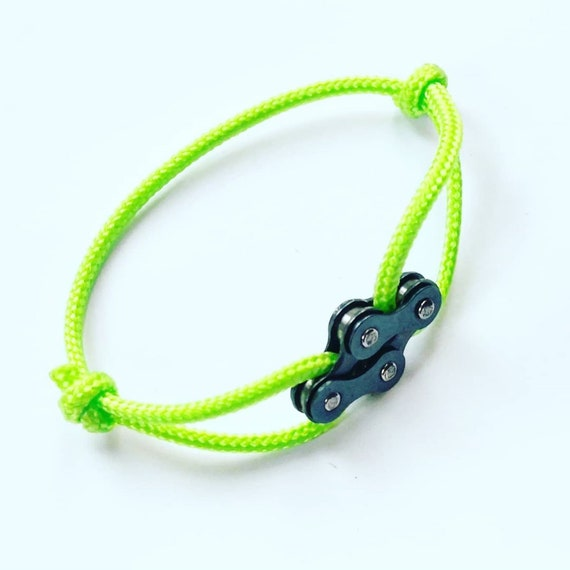 Bracelet for Cyclists, Great Gift, Bike Design Charm on Paracord, Upcycled Repurposed