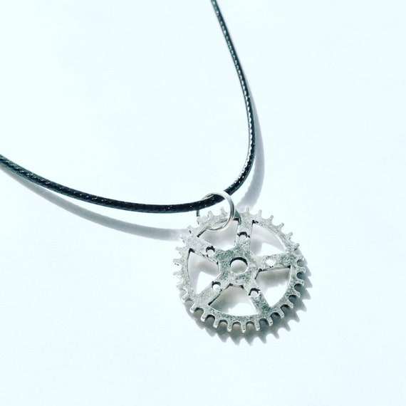Bicycle Chainring Necklace Gift for Cyclist Mountain Bike Rider Chain Cog Gear Motorbike Tour Cyclist Great Present Stocking Filler Birthday