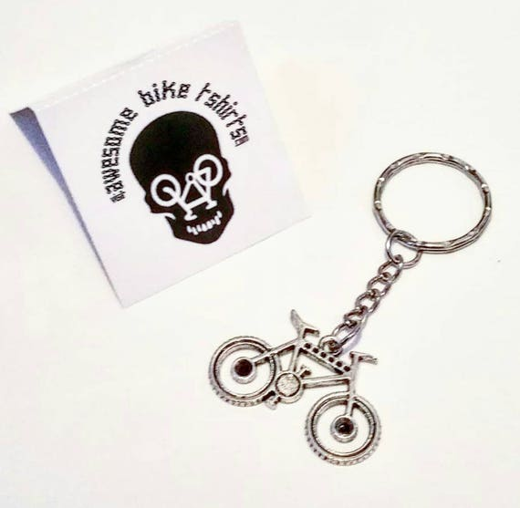 Bicycle Keyring Key Fobs Gift for Cyclist Bike Rider made from Upcycled Bike Parts Tour Cyclist Present for Mountain or Road retro Keys