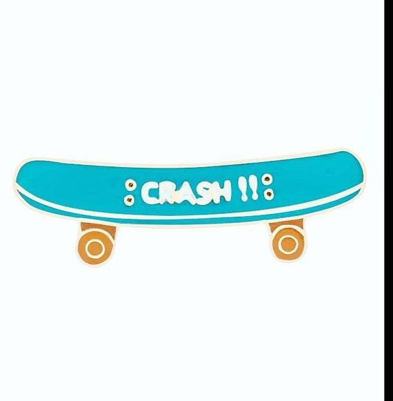 Crash Skateboard Design Pin Badge Wonderful Gift for Any Skater or skaterboy skate Enthusiast Birthday Present People Skate