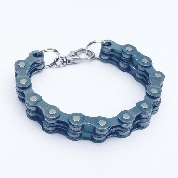 Bike Chain Bracelet Great Gift for any Cyclist or Bicycle Rider or Punk Industrial or Keychain BMX Emo Goth Jewellery