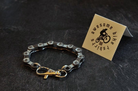 Bicycle Chain Bracelet Great Gift for Any Cyclist or Bike Rider Upcycled Recycled or Punk Industrial Key ring or Keychain