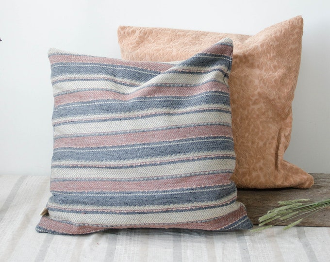 Decorative cushion cover. Blue and pink