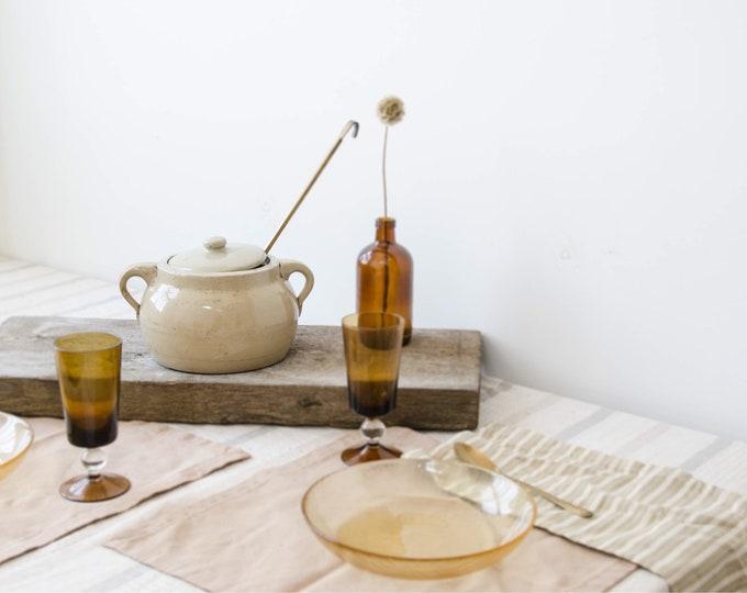 Vintage stoneware bean pot