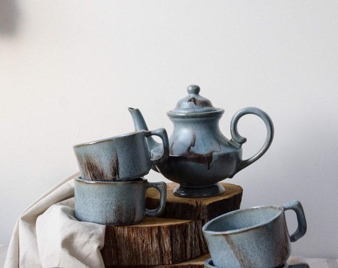 Vintage tea set, ceramic