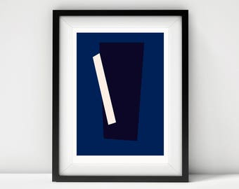 Untitled(Blue) - Archival Quality Giclee Print A4/ A3