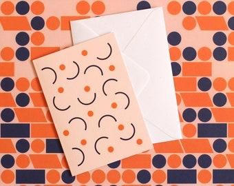 Catch Greetings Card - Orange