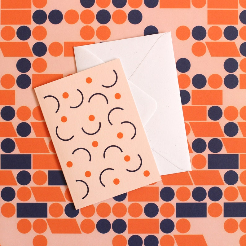 Stack Wrapping Paper - Orange