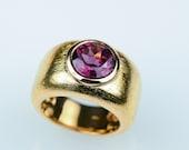 Rhodolite ring Rosé gold