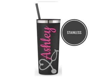 Stainless Nurse Cup Nurse Water Bottle Personalized Nurse Gifts Nurse Christmas Gifts Nurse Graduation Gift Nursing Student