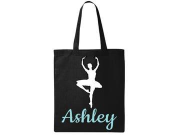 Ballerina Gift, Dancer Bag, Ballerina Gift - Personalized Dancer Tote - Personalized Ballerina Gift
