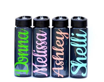 Easter Gifts for Kids, Classroom gifts, classmate gifts, valentine gifts, Valentines Day gift, personalized gifts, 24 oz black water bottles
