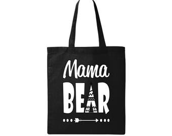 Mom Bag Mom Gift Mom Tote Bag Mama Bear Bag Christmas Gifts for Moms New Mom Gift Baby Shower Gift Baby Shower Gift Bag Mothers Day Gift