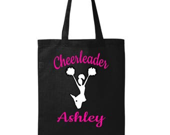 Cheer Bag - cheerleader bag - Personalized Cheerleader Gift - Cheer Competition Bag - Cheer Camp - Cheerleader tote